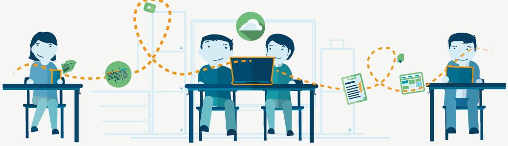 Werkzeugkasten kollaboratives Lernen im Internet