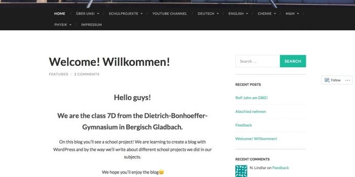 Schülerblog einer NW-Klasse