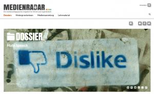 Medienradar: Screenshot Dossier Hate Speech