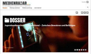 Screenshot Dossier Jugendmedienschutz